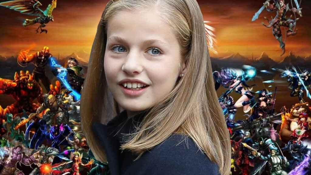 Montaje del rostro de la princesa y el cartel del famoso videojuego