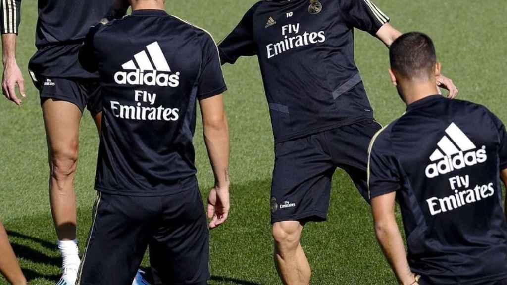 Modric se entrena en Valdebebas junto a sus compañeros
