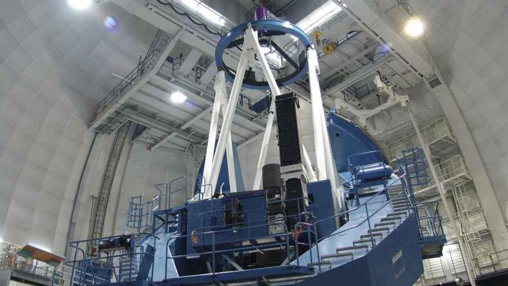 El telescopio de 3,5 m en el Observatorio de Calar Alto.