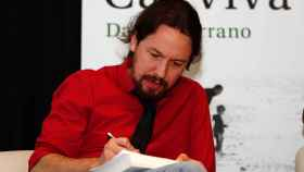 Pablo Iglesias, en la presentación del libro 'Cal viva', de Daniel Serrano.