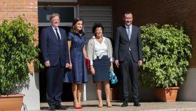 Ximo Puig, presidente de la Generalitat Valenciana, la reina Letizia, Isabel Celaá, ministra de Educación y Carlos González Serna, alcalde de Elche.
