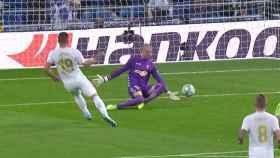Gol anulado a Luka Jovic por fuera de juego en el Real Madrid - Osasuna