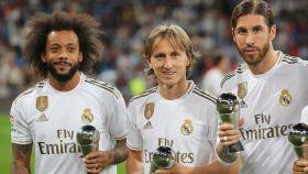 Marcelo, Modric y Sergio Ramos ofrecen sus premios del XI FIFPro a la afición