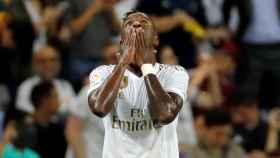 Vinicius Júnior llora tras marcar gol en el Real Madrid - Osasuna. Foto: Twitter (@elchiringuitotv)