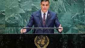 Pedro Sánchez, durante su intervención en la sesión anual de la Asamblea General de la ONU.
