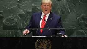 Trump durante su discurso en la ONU.