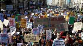 Estudiantes se manifiestan en Madrid convocados por Fridays For Future