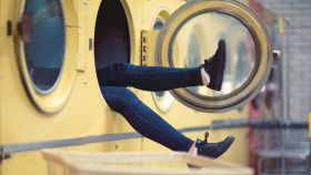 Una imagen de archivo de una lavadora.