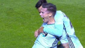 Santi Mina da el empate al Celta de Vigo.