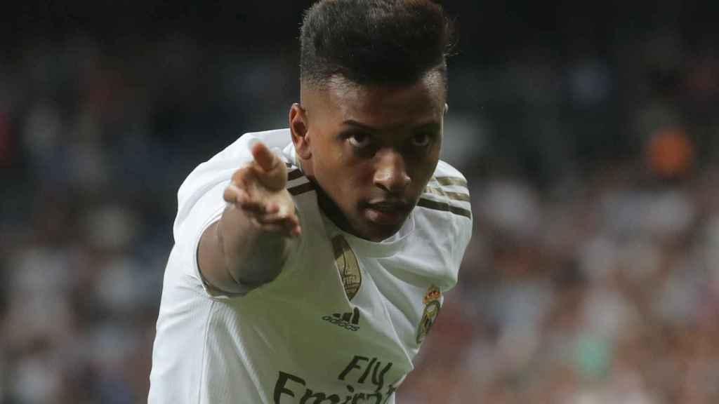 Reverencia de Rodrygo tras marcar con el Real Madrid