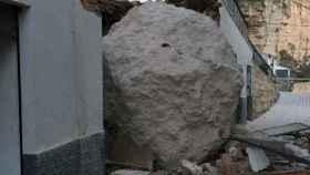 Una imagen de archivo de los desprendimientos de 2016 en la localidad albaceteña de Alcalá del Júcar