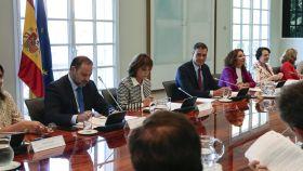 El Gobierno, reunido en Consejo de Ministros en La Moncloa.
