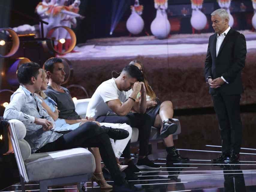 Jorge Javier Vázquez hablando con Pol Badía en 'Gran Hermano VIP'.