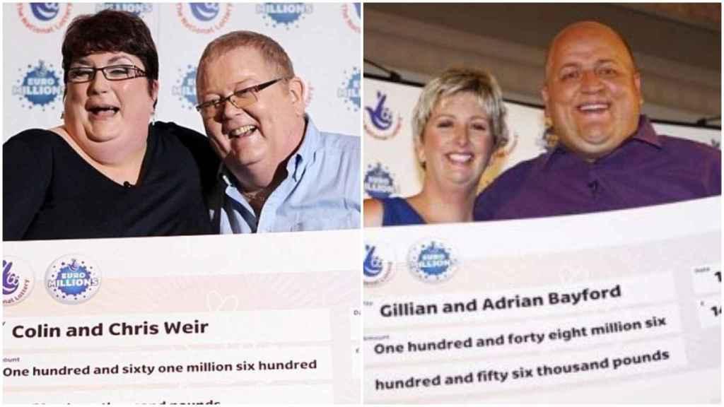 Los Weir y los Bayford, ganadores del bote de Euromillones.