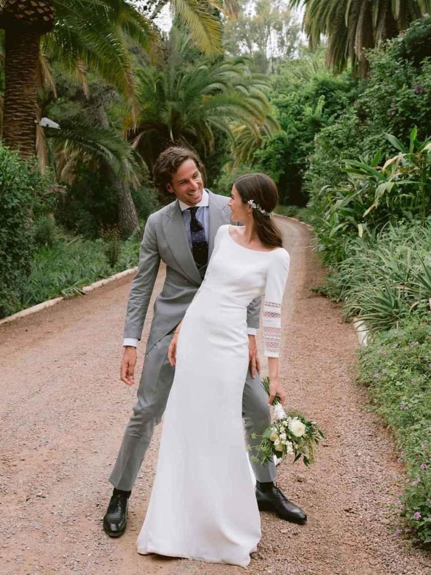 Feliciano y Sandra mostraron las fotos de su boda en las redes sociales.