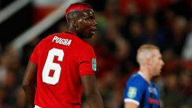 Paul Pogba, con el Manchester United