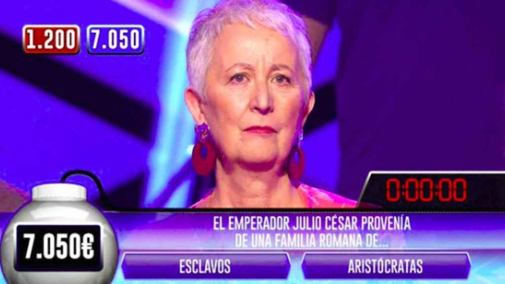 Fotograma del programa '¡Boom!' en el que se puede observar el gazapo.