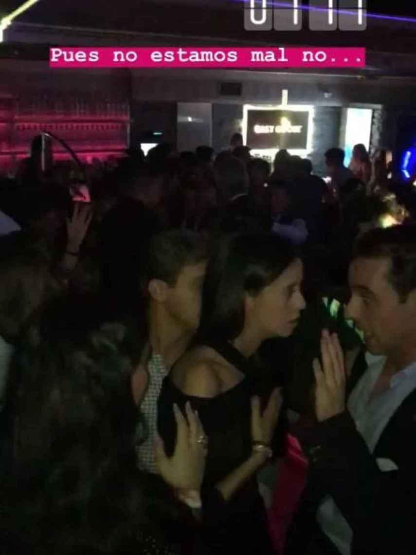 Detalle de Victoria Federica dentro de la discoteca donde ha celebrado su cumpleaños.
