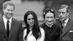 Meghan y Harry en un montaje junto Eduardo y Wallis Simpson.