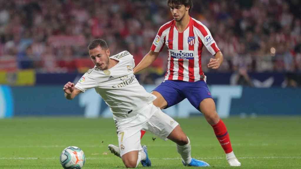 Falta de Joao Félix sobre Hazard en el derbi madrileño