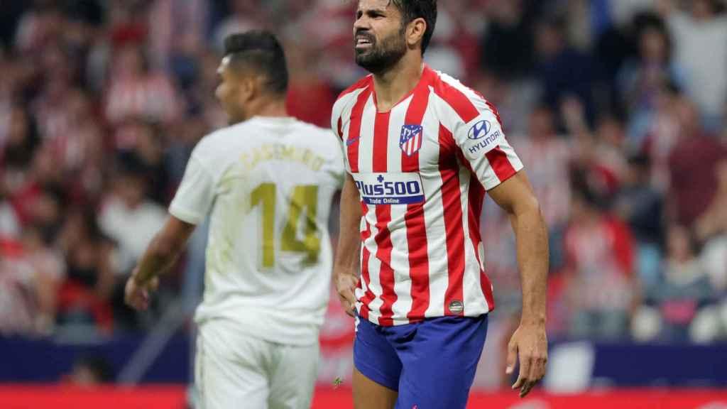 Diego Costa, en un momento del derbi madrileño