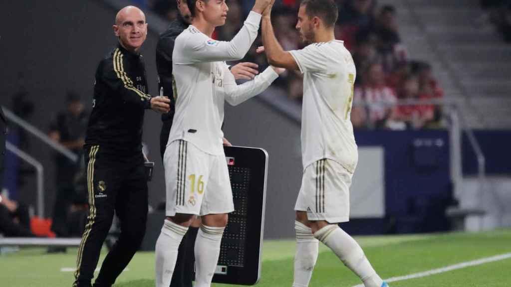 Cambio de James Rodríguez por Hazard
