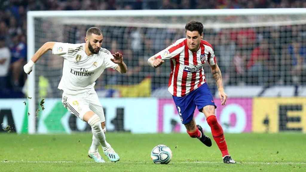 Encuentro entre el Atlético y el Real Madrid. Foto Twitter (@atleti)