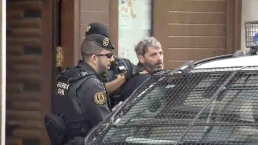 Xavier Duch, tras su detención por la Guardia Civil