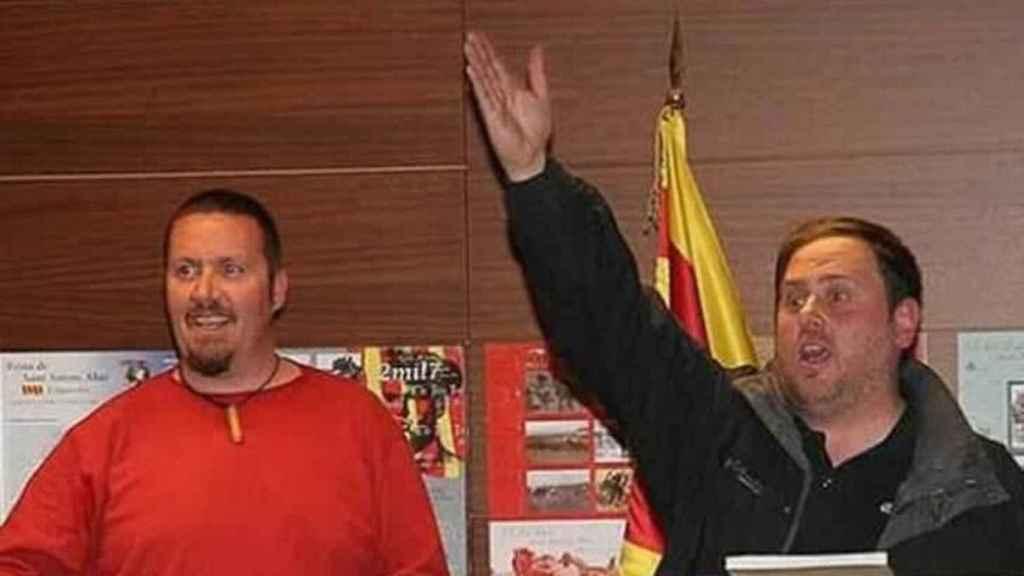 Xavier Buigas, junto a Oriol Junqueres.