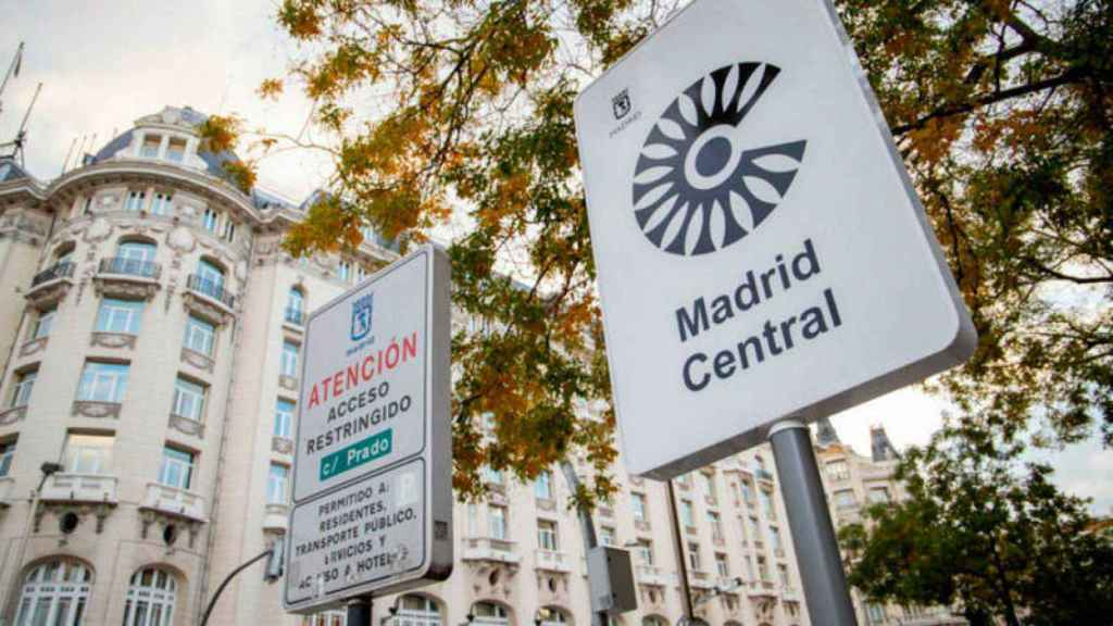 Uno de los accesos a Madrid Central