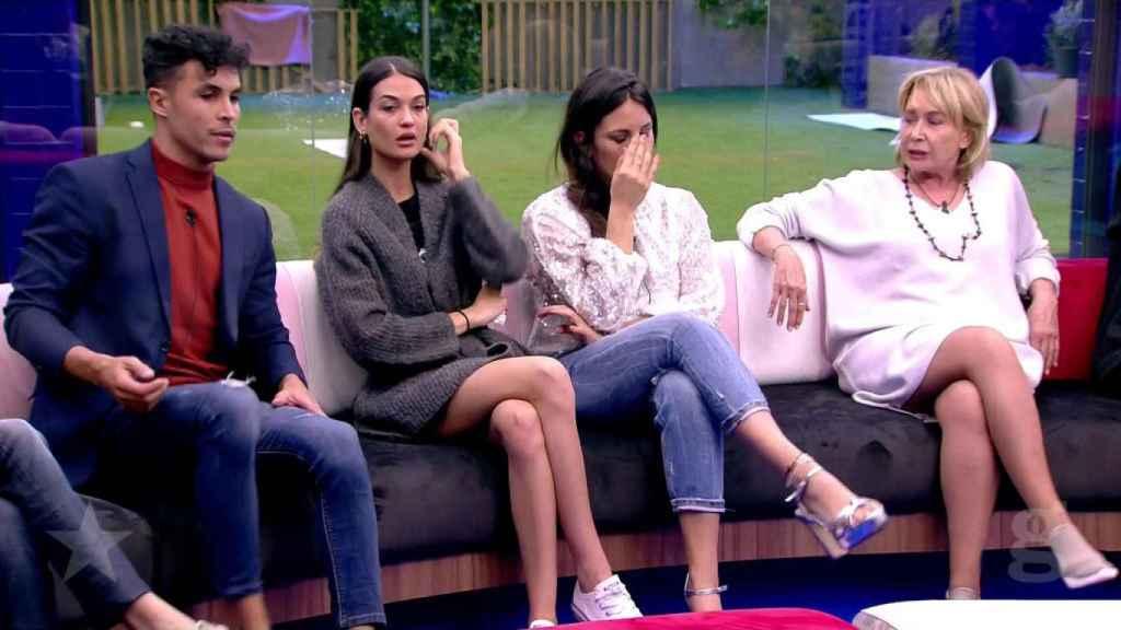 Kiko, Estela Grande, Irene y Mila Ximénez durante el debate de este pasado domingo.