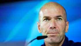 Zidane en la rueda de prensa previa al partido contra el Brujas.