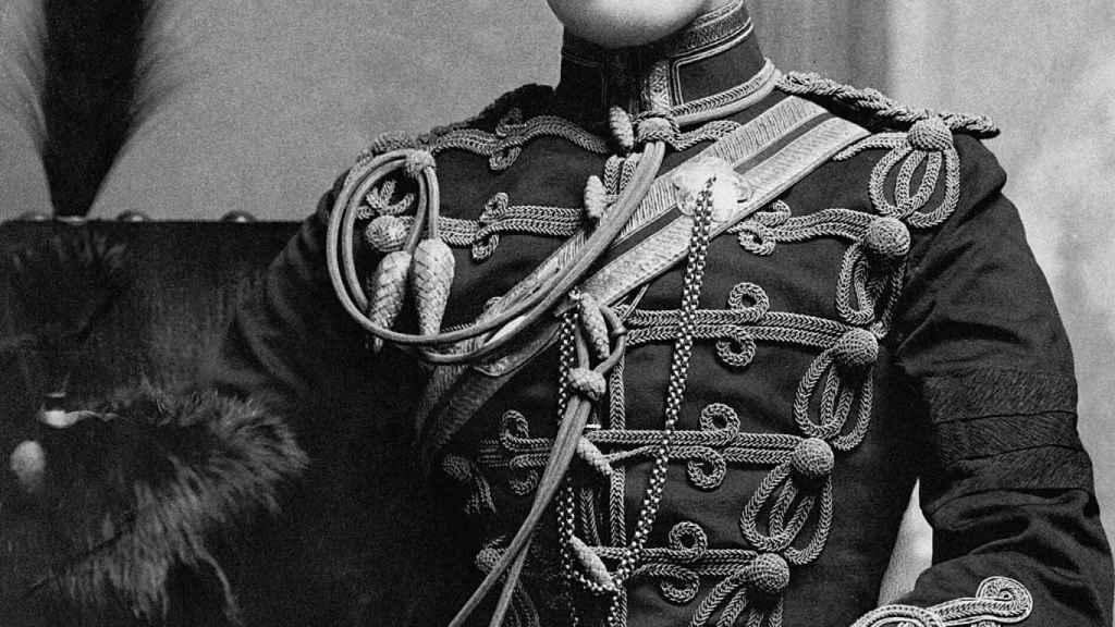 Winston Churchill a la edad de 21 años (1895).