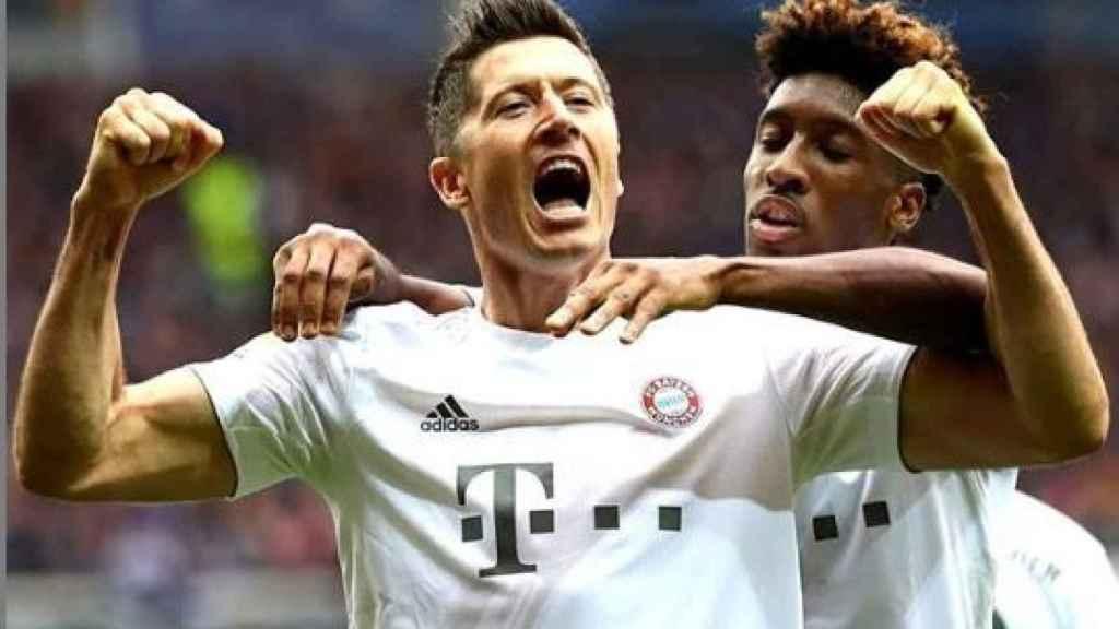 robert lewandowsk celebra con el Bayern de Múnich