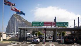 El paso fronterizo en Gibraltar.