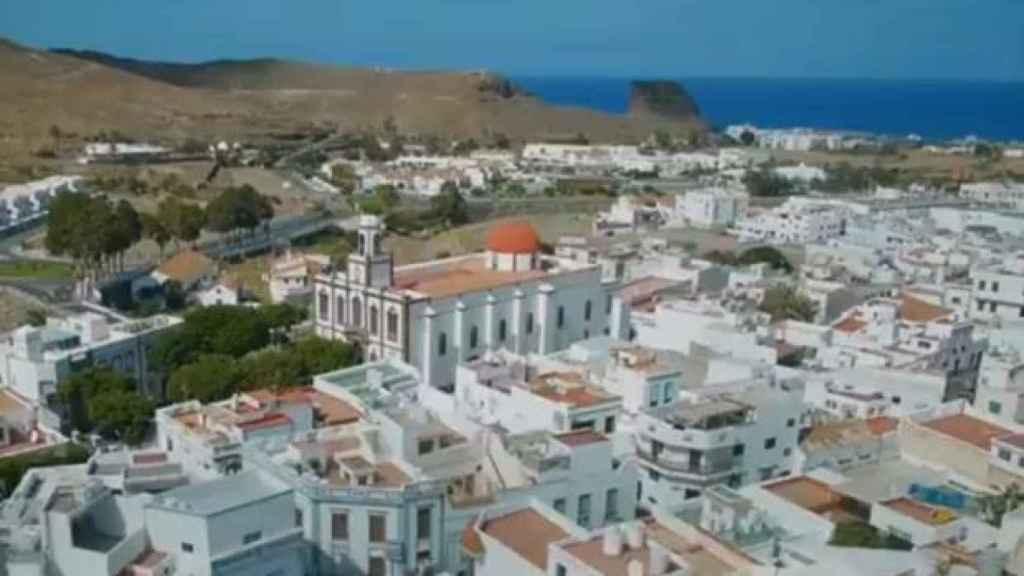 La ciudad de Agaete, donde ella creció.