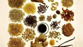 Una muestra de cereales de grano entero.