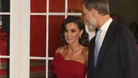 Los reyes, Felipe y Letizia, en su último acto de agenda.