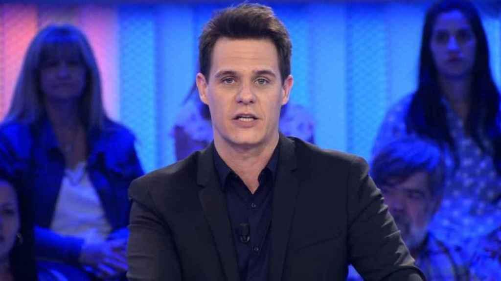 El presentador Christian Gálvez durante la emisión de un programa de 'Pasapalabra'.