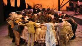 Imagen de la producción de El Caserío, en el Teatro de la Zarzuela.