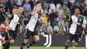 La Juventus celebra un tanto de Cristiano Ronaldo