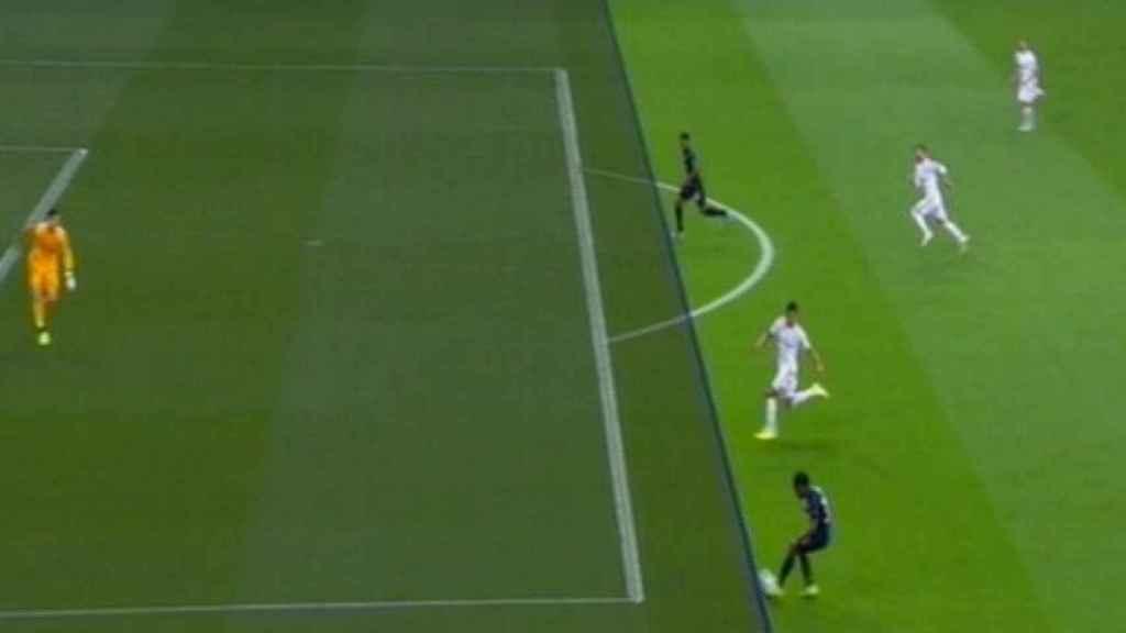 Así validó el VAR el gol del Brujas al Real Madrid
