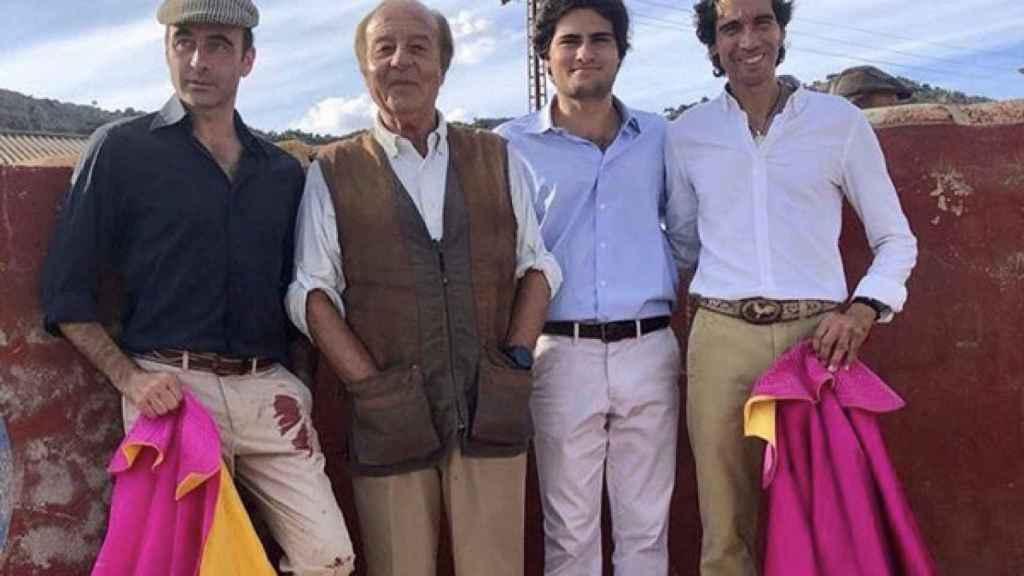 Enrique Ponce, Samuel Flores, Adolfo Suárez Flores y Curro Díaz.