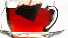 Una foto de archivo de una bolsita de té.