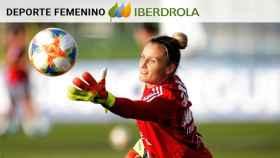 Sandra Paños entrena con la selección española
