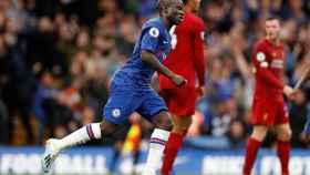Kanté, en un partido del Chelsea ante el Liverpool