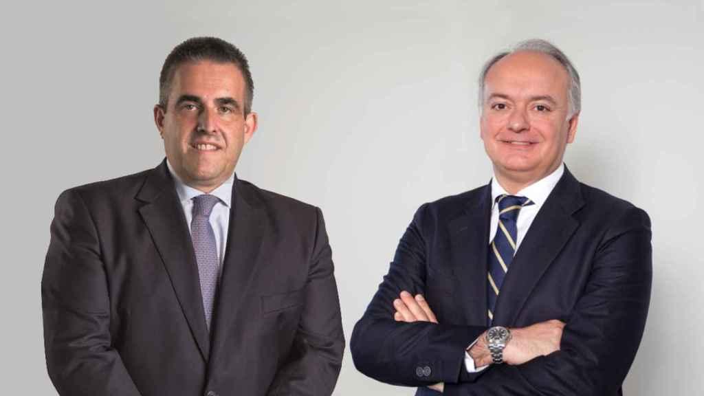 Víctor del Pozo, consejero delegado de El Corte Inglés y Javier Catena, responsable de la unidad inmobiliaria.