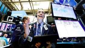 Agente de bolsa de Wall Street.
