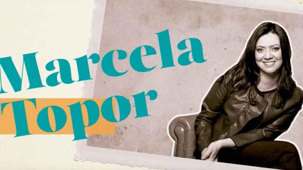 Marcela Topor, en la imagen promocional de su programa.
