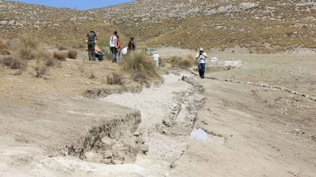 Proceso de excavación de Caraca.